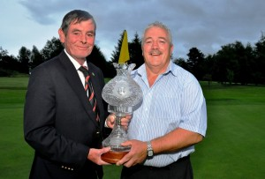 Borris Golf Club Captain John Byrne Presenting his Prize to Johnny Murphy. Photo Courtesy William Dempsey