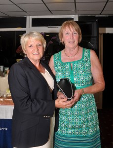 Borris Golf Club Lady Captain Stephanie Dargan Presenting her prize to Geraldine Treacy