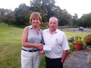 Eileen Kelly Receiving 2nd Prize in 9 Hole Competition 20th June