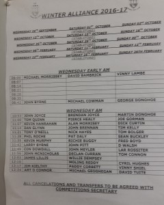 Wednesday Alliance 2016.17