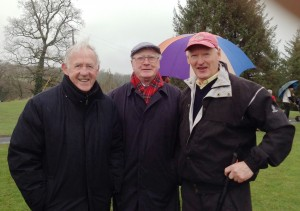 John Enright, Jim Benson & Club President AF Mitchell