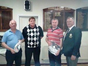2nd in Foursomes.. Tom Quinn, Sponsor John Dwyer, Pierce Healy & Captain Pat