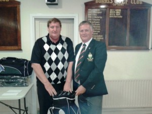 Pat Leahy 1st in Foursomes with Sponsorer John Dwyer