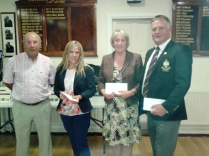 Sean Treacy, Fiona Corcoran, Geraldine Treacy & Captain Pat.. 1st in 4 Person Scramble