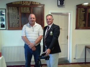 Winner of Friday's Singles Brendan Kiernan