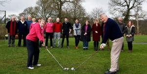 Borris Golf Club Lady Captain Janette O'Neill & Captain Cyril Hughes Drive In on Sunday 5th March