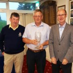 Pat Kelly winner of the Borris Golf Club Intermediate Scratch along with Club Captain Kevin Ryan and Michael Dundon