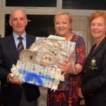 President Kieran Lucas, Bernie Byrne & Lady Captain Kathleen Quinn