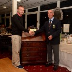 President Kieran Lucas presenting his Men's Prize to David Gorman