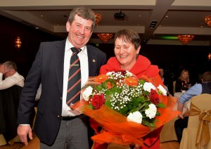 Captain Kevin Ryan & Nollaig Lucas at the Borris Golf Club Dinner Dance in The Lord Bagenal.