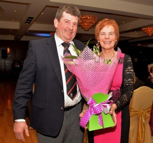 Captain Kevin Ryan and Lady Captain Kathleen Quinn at the Borris Golf Club Dinner Dance in The Lord Bagenal.